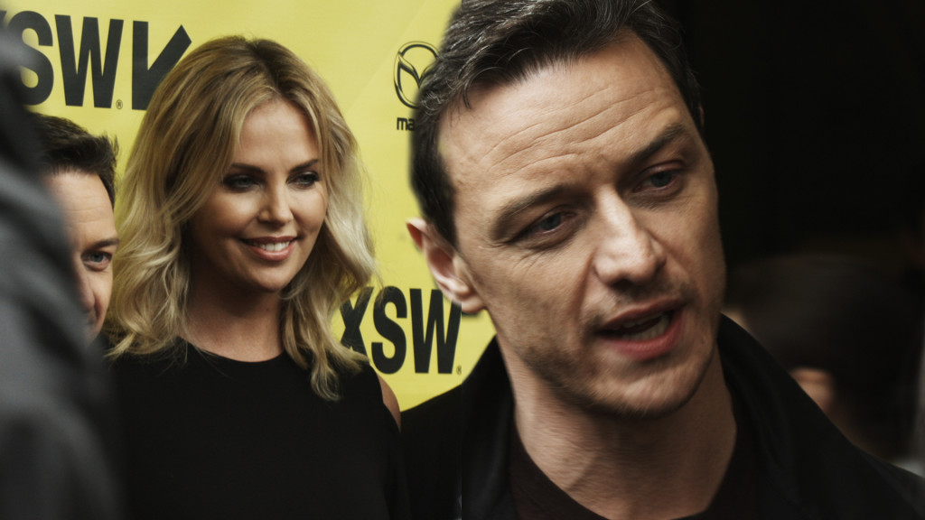 charlize theron, james mcavoy, sxsw, atomic blonde